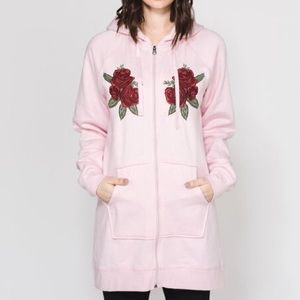   BRUNETTE THE LABEL   BLONDE embroidered hoodie